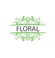 logo floral vector image