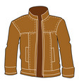 men leather jacket vector image