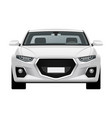 modern generic car front view vector image