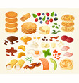 pancakes constructor vector image