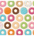 Pattern background with colorful glossy donuts vector image vector image
