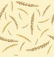 pattern with autumn golden and yellow branches vector image vector image
