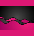 pink black corporate waves abstract background vector image vector image