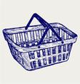 Plastic basket vector image vector image