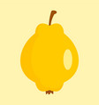 quince icon flat style vector image