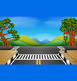 road in the park vector image