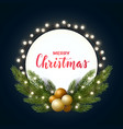 round christmas design with decorative light bulb vector image vector image
