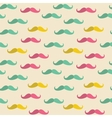 Seamless mustache pattern vector image