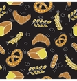 Seamless pattern with bakery products vector image vector image