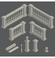 set of architectural element balustrade vector image vector image