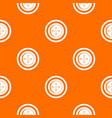 sewing button with a thread pattern seamless vector image vector image