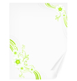 spring flowers paper vector image vector image