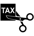 Tax Cut Icon vector image vector image
