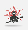 terrorist with grenade launcher vector image