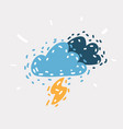 thunder from the sky vector image vector image