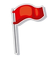 waving flag isolated icon vector image