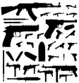 weapon silhouette vector image vector image