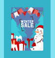 winter sale poster happy new vector image