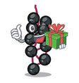 with gift elderberry in the shape of mascot vector image vector image