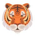 tiger head logo decorative emblem vector image