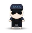 bank security officer cartoon 2d collector vector image