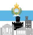 San Marino vector image