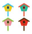 bird house home birdhouse nest isolat vector image
