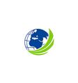 earth globe abstract technology logo vector image