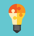 Light bulb of puzzles vector image