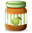 A bottle of guava jam vector image vector image
