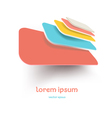 abstract folders retro icon vector image vector image