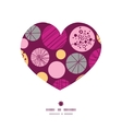 abstract textured bubbles heart silhouette pattern vector image vector image