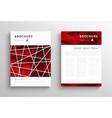 abstract triangular brochure design template vector image