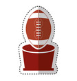 american football trophy with balloon icon vector image