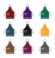 apron icon in black style isolated on white vector image vector image