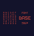 base bold font alphabet vector image vector image