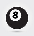 billiard icon 8 ball icon sports ball symbol vector image