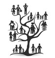 black family tree vector image vector image