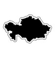 black silhouette of the country kazakhstan with vector image vector image