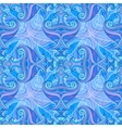 Blue and violet waves seamless background vector image vector image