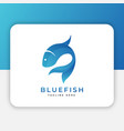blue fish logo design inspiration vector image
