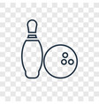 bowling concept linear icon isolated on vector image