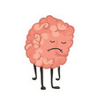 brain character emotion brain character stands vector image vector image