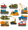 Caterpillar equipment tractor set vector image