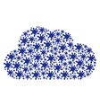cloud figure of blot icons vector image vector image
