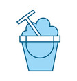 color blue sand jar cartoon vector image vector image