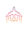 colorful airplane line icon vector image
