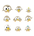cute birds collection vector image vector image