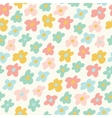 Cute little flowers seamless pattern vector image