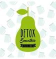Detox pear icon Organic food design vector image vector image